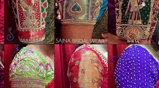 2021 Mind blowing maggam work blouses by Sajna Bridal Wear Designer