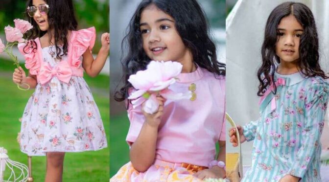 Allu Arha looking adorable in three cute outfits by Pony and Peonies