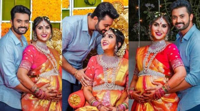 TV Actress Keerthi dhanush Seemantham function photos!