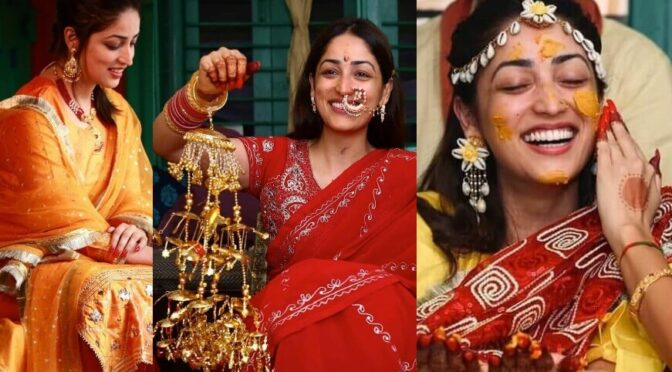 Yami Gautam's pre-wedding ceremony pics !