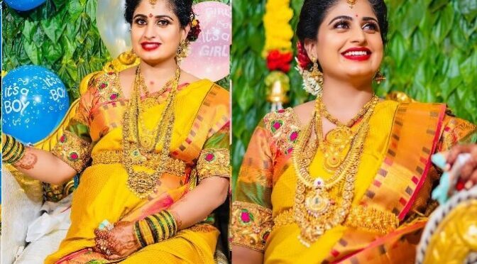 TV Actress Chaitra Rai Seemantham function photos!