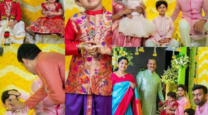 Dilraju's Grand son Aransh Dhoti Ceremony photos!