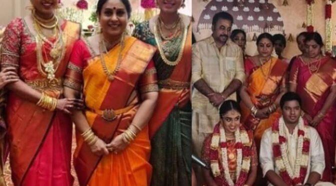 Senior Actress Saranya ponvannan daughter Priyadarshini wedding photos!