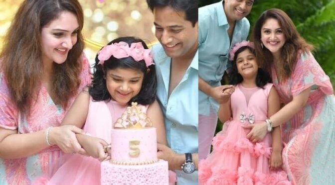 Sridevi Vijaykumar daughter Rupika 5th birthday celebration Photos!