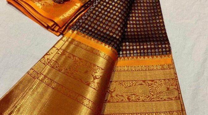 Traditional kuppadam kanchi sarees!