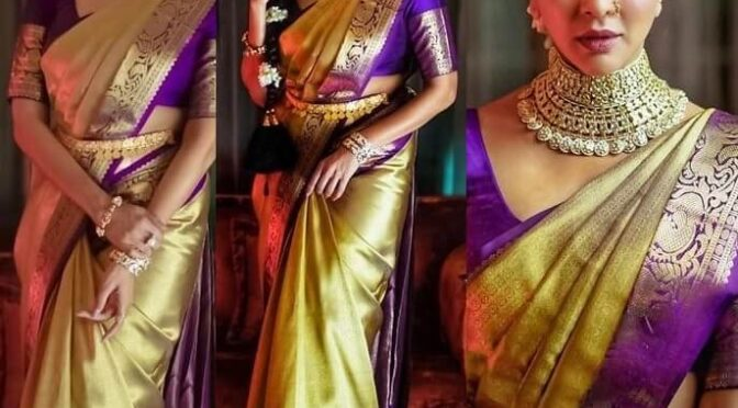 Lakshmi Manchu stuns in green pattu saree for a wedding!