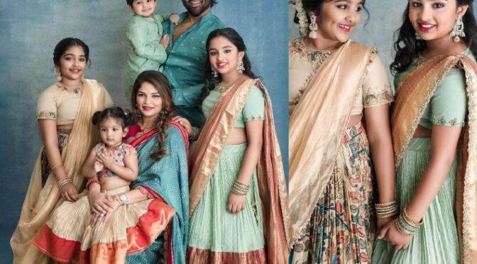Vishnu Manchu and family celebrate stuns in Traditional outfits for Ganesh Chaturthi Celebrations!
