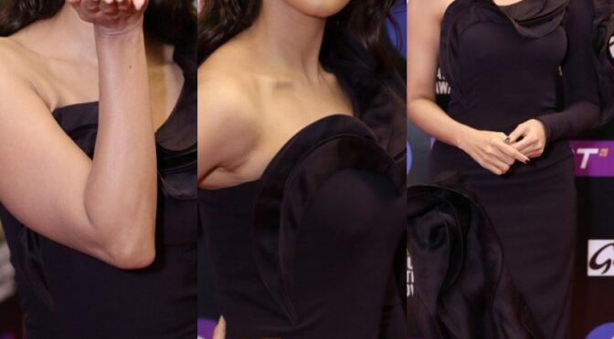 SIIMA 2021 : Pooja Hegde looking stunning in ruffle gown by Gaurav Gupta!